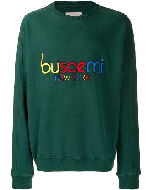 メンズ Buscemi ロゴ スウェットシャツ Green