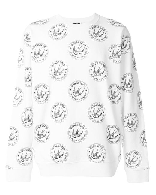 McQ Alexander McQueen - White Swallow Pattern Sweatshirt for Men - Lyst