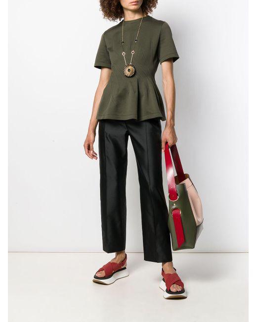 Pantalon droit crop Marni en coloris Black