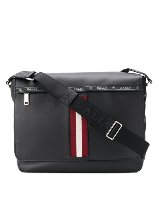 Bally Black Stripe Detail Oversized Shoulder Bag for men