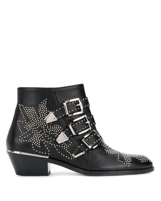 Chloé Susanna Ankle Boots in het Black