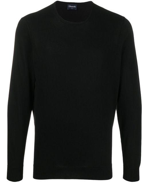 メンズ Drumohr クルーネック スウェットシャツ Black