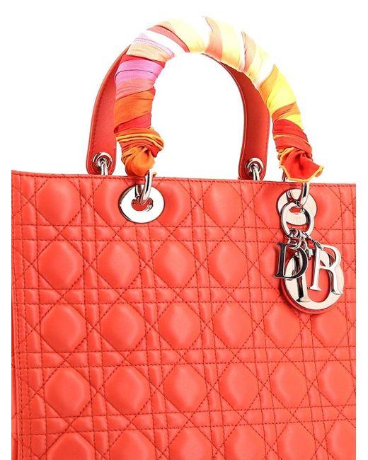 Dior プレオウンドレディ ディオール ハンドバッグ Red