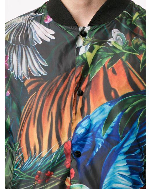 Куртка-бомбер С Принтом Paradise Found Roberto Cavalli для него, цвет: Yellow