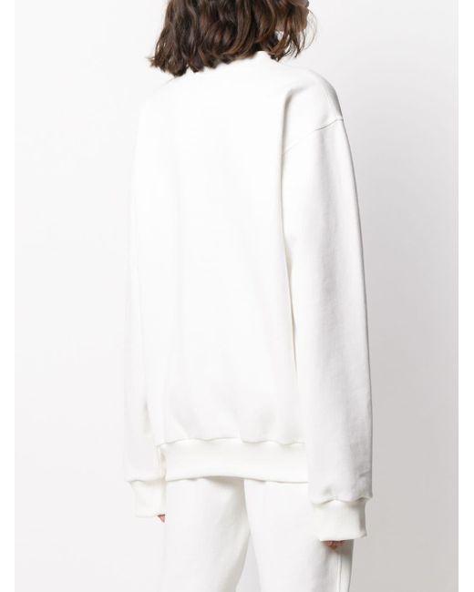 Styland White Crewneck Sweatshirt