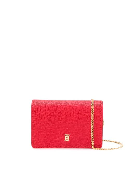 Burberry チェーンウォレット Red