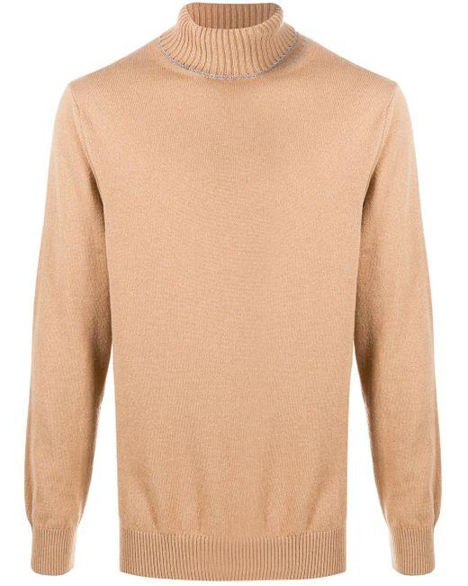 メンズ Eleventy カシミア タートルネックセーター Multicolor
