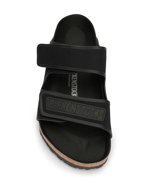 メンズ Birkenstock ダブルストラップ サンダル Black