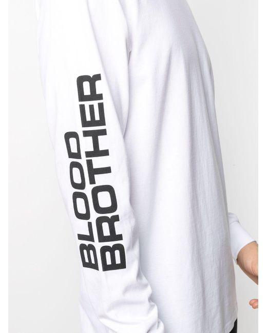 メンズ Blood Brother Sloane ロングtシャツ White