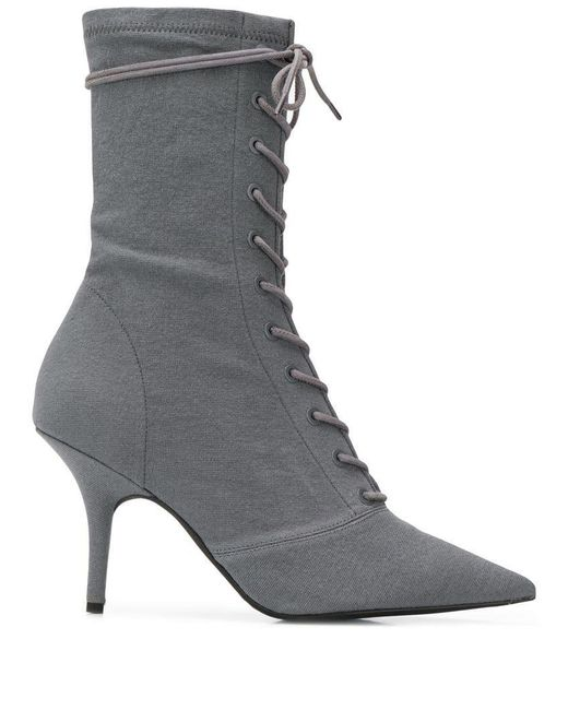 f5d11e98bc272 Yeezy - Gray Debris Sock Ankle Boots - Lyst ...