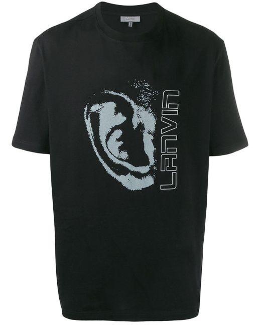 メンズ Lanvin ロゴ Tシャツ Black
