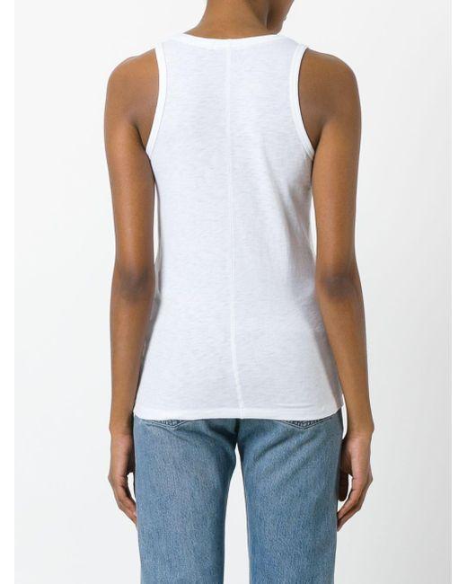 Rag & Bone White Classic Vest-top