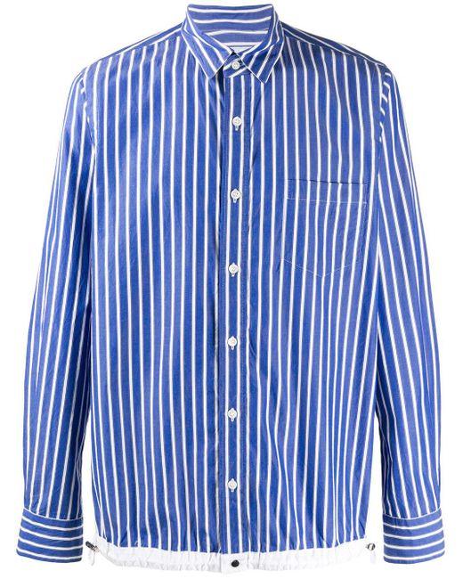 メンズ Sacai ストライプ シャツ Blue