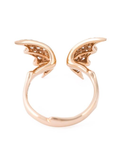 Stephen Webster Metallic Bat Wings Diamond Ring