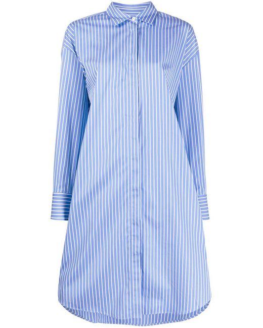 MSGM ストライプ シャツドレス Blue