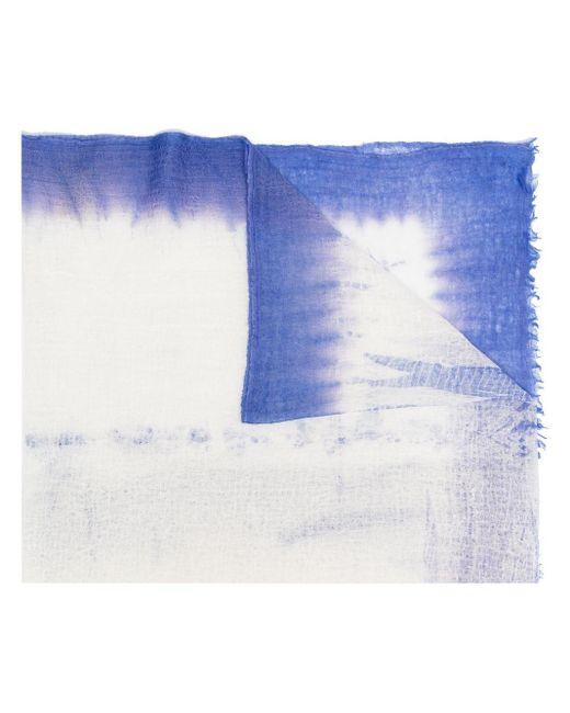 Châle à design tissé Suzusan en coloris Blue