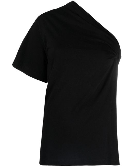 Top monospalla asimmetrico di N°21 in Black