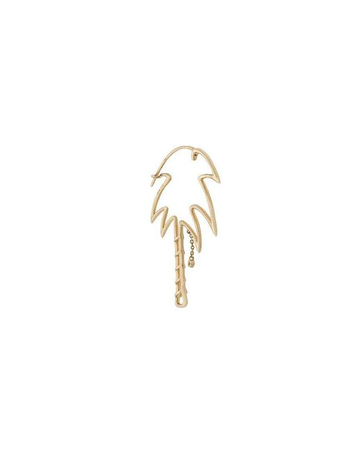 Yvonne Léon - Metallic 9kt Gold And Diamond Palm Tree Earring - Lyst
