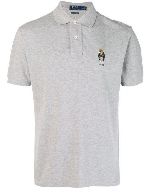 メンズ Polo Ralph Lauren エンブロイダリー ポロシャツ Gray