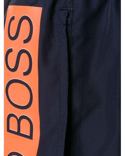メンズ BOSS by Hugo Boss トランクス水着 Blue