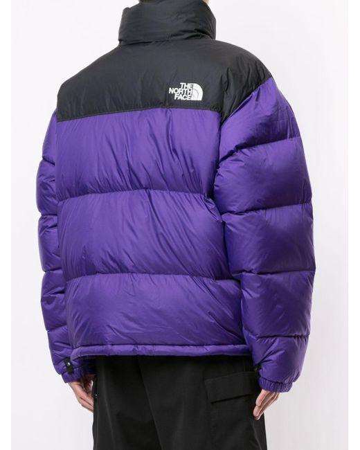 メンズ The North Face Retro Nuptse パデッドジャケット Purple