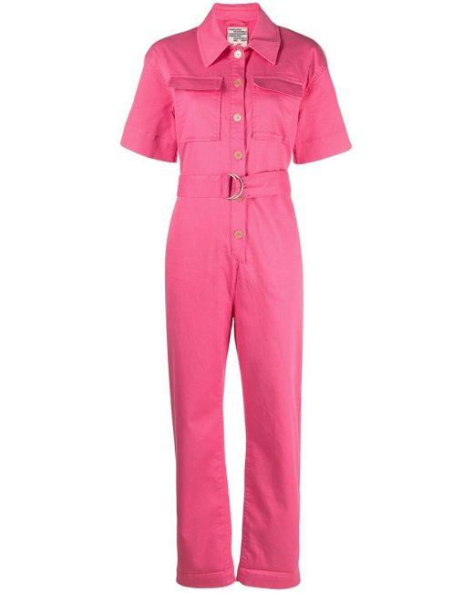 Baum und Pferdgarten フラップポケット ジャンプスーツ Pink