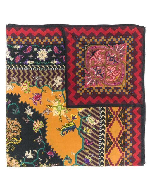 Etro ジオメトリックプリント スカーフ Multicolor