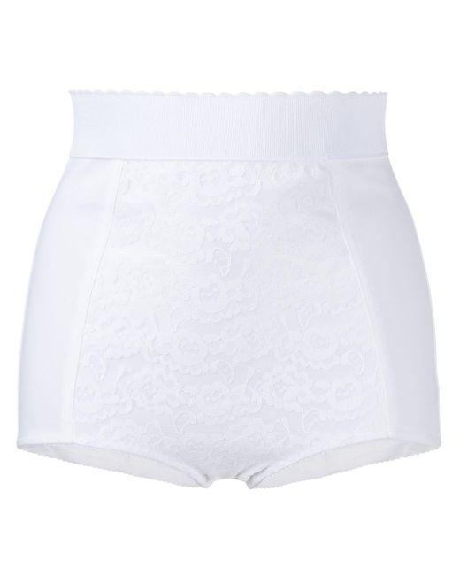 Dolce & Gabbana レースパネル ショーツ White