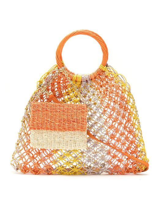 Serpui クロシェ ストローバッグ Orange