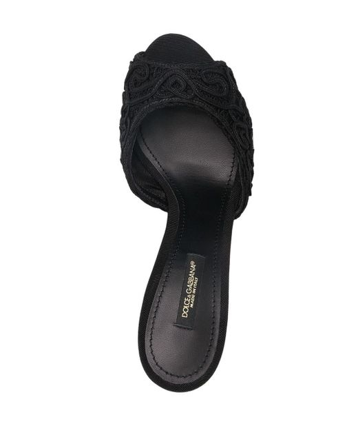 Dolce & Gabbana オープンバック サンダル Black
