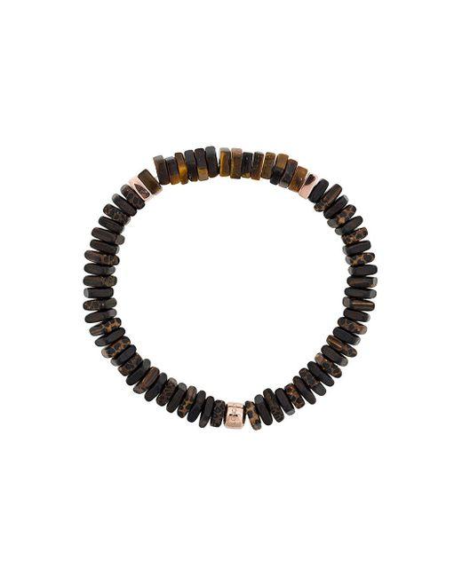 Tateossian Brown Legno Silver Bracelet