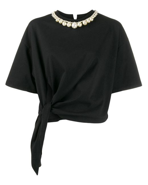 Miu Miu ネックレスディテール Tシャツ Black