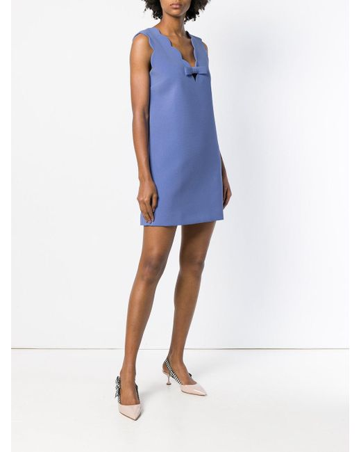 scalloped neck dress - Blue Miu Miu AYOhH
