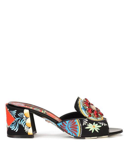 Dolce & Gabbana フローラル サンダル Multicolor
