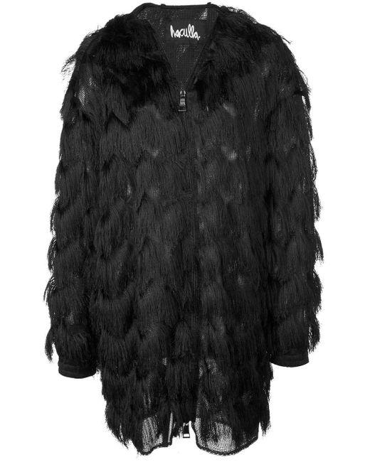 Cappotto con frange di Haculla in Black