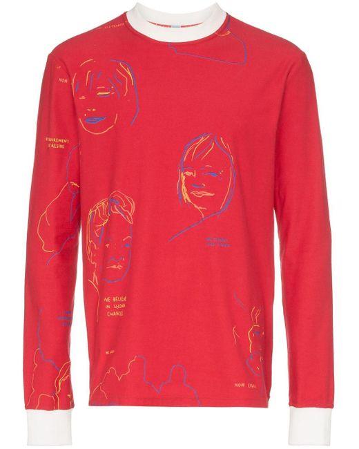 メンズ BETHANY WILLIAMS プリント Tシャツ Red