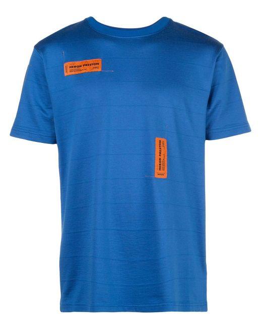 メンズ Heron Preston ロゴ Tシャツ Blue