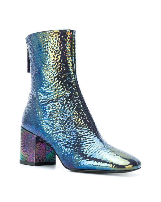 Iridescent Mid Heel Shoes