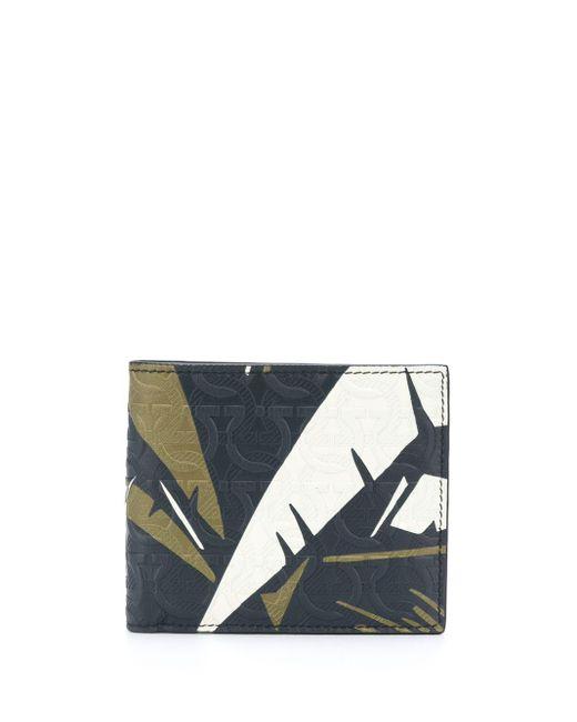 Бумажник С Тиснением Gancini Ferragamo для него, цвет: Blue