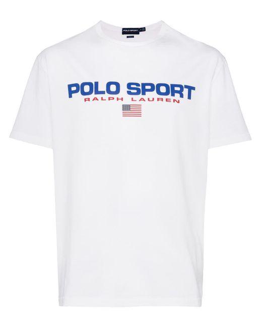 メンズ Polo Ralph Lauren ロゴ Tシャツ White