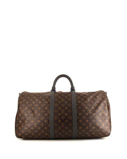 Сумка Keepall 55 Pre-owned Из Коллаборации С Kim Jones Louis Vuitton, цвет: Brown