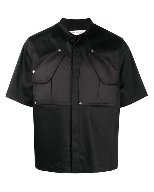 メンズ 1017 ALYX 9SM パッチポケット シャツ Black
