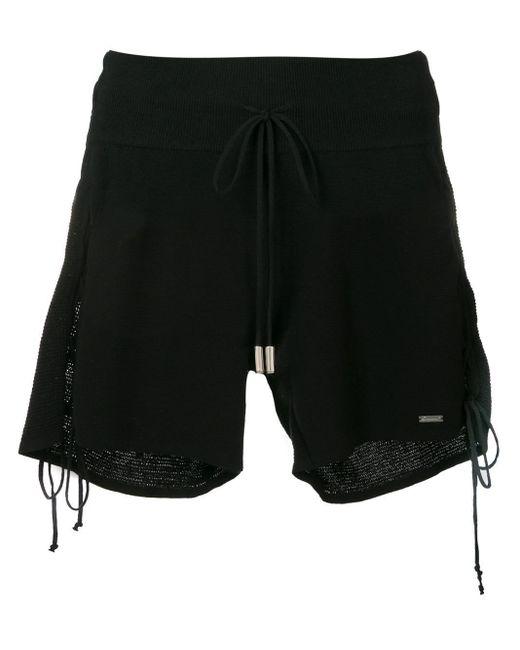 Short à détails de laçage DSquared² en coloris Black