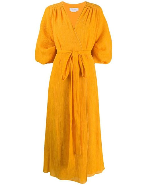Gabriela Hearst ラップドレス Yellow
