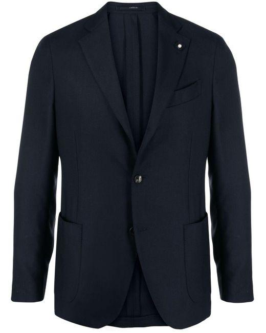 Пиджак Строгого Кроя Lardini для него, цвет: Blue