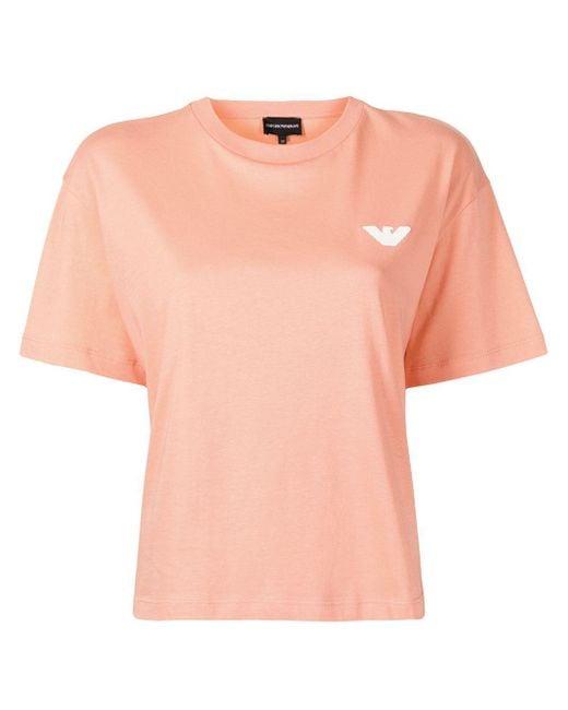 Emporio Armani スローガン Tシャツ Orange