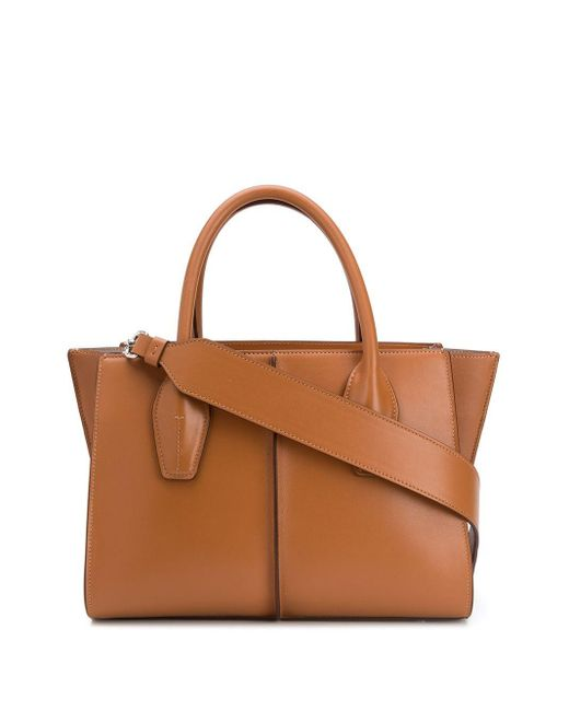 Tod's レザートートバッグ Brown