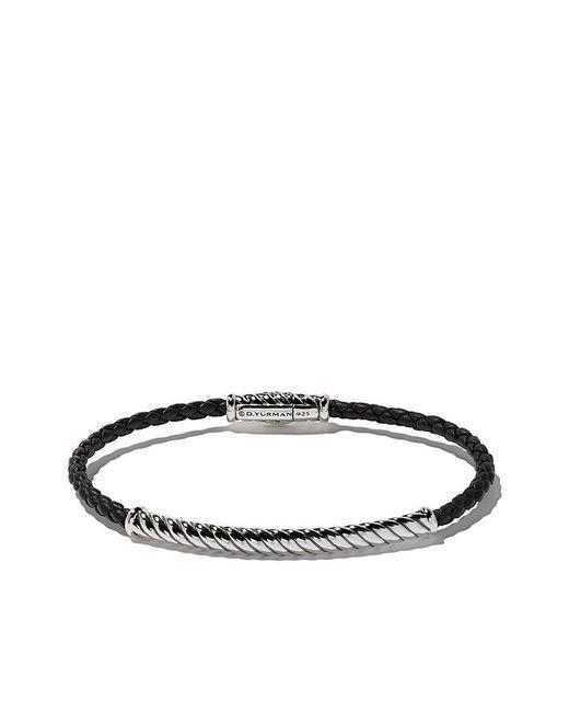 David Yurman - Black Cable Classic Woven Bracelet for Men - Lyst