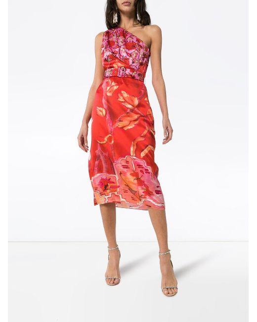 Robe mi-longue à fleurs Peter Pilotto en coloris Pink