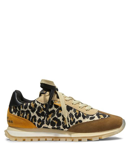 Marc Jacobs Brown The Leopard Jogger Sneakers